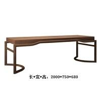 【优选】新中式实木茶桌椅组合 禅意胡桃木家具定制 功夫泡茶台茶艺桌现货 整装