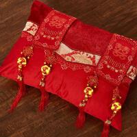 小抱枕 大红色婚庆抱枕靠垫枕头含芯 可拆洗定制