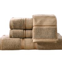 酒店浴巾三件套纯棉男女加厚柔软全棉毛巾浴巾套装定制