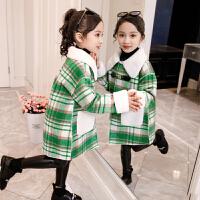儿童女童加厚冬装毛呢上衣外套2019新款韩版中大童洋气呢子大衣