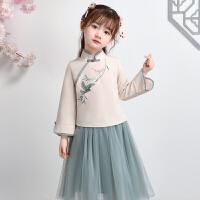 汉服女童中国风宝宝唐装春秋改良民国古装儿童儒裙小女孩套装