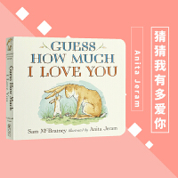 【包邮】猜猜我有多爱你英文原版绘本 Guess How Much I Love You 纸板书 廖彩杏 吴敏兰书单