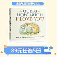 【89选5】#猜猜我有多爱你英文原版绘本 Guess How Much I Love You 纸板书 廖彩杏 吴敏兰书单