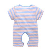 夏季6-12个月婴儿衣服男女宝宝夏装开档哈衣婴儿短袖连体衣