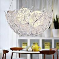 现代创意个性吊灯具吧台客厅鸟巢现代简约餐厅主卧室吊灯浪漫温馨