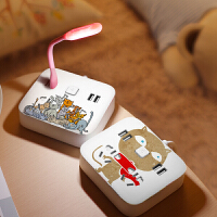 创意彩绘多功能USB插座转换头多口插排家用电插板