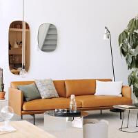 【品牌特惠】北欧办公沙发简约现代商务接待休闲办公室沙发三人位茶几组合