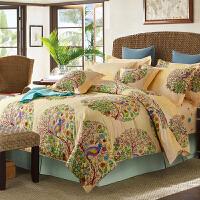 当当优品 纯棉活性印花双人六件套梦幻花园