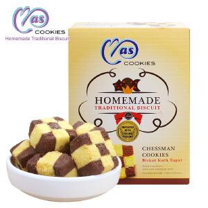 马来西亚进口 麦阿思棋盘形巧克力松脆曲奇饼干 110g
