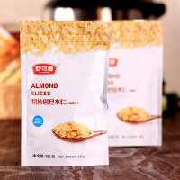 舒可曼 烘焙原料 舒可曼切片巴旦木(扁桃仁)100g/袋 蛋糕饼干面包装