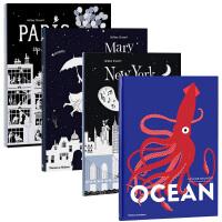 【预订】Helene Druvert艺术纸雕童书四册套装 Mary Poppins立体剪纸作者系列儿童图书 英文原版