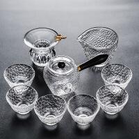 2019新品耐热日式锤纹玻璃功夫茶具套装家用花茶泡茶壶侧把茶杯红茶冲茶器