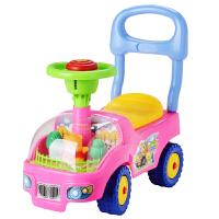 婴儿学步车 宝宝学步车儿童车可坐玩具车宝宝助步车四轮靠背滑行车带音乐学步车