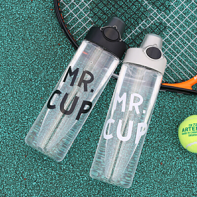简约网红水杯创意个性塑料运动健身便携学生耐摔随行杯子男家用