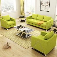 【品牌特惠】办公室布艺沙发茶几组合时尚小型单三人位会客区接待洽谈办公沙发 1+2+
