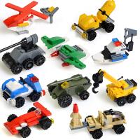 星钻积木 积变战士 酷垒式拼装模型 益智玩具 三变工程车10盒小积木82203