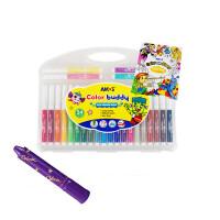 水彩笔超水洗宝宝画笔12/24色彩色笔安全可墙面画画