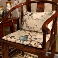 红木椅子坐垫中式家具沙发坐垫古典家用防滑圈椅太师椅实木凳子垫