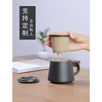 陶瓷茶杯过滤泡茶杯茶水分离办公杯家用马克杯喝水杯杯子