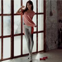 粉色新款瑜伽服运动套装女显瘦速干衣健身房跑步短袖吸汗显瘦修身