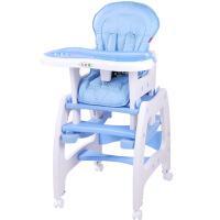 多功能儿童餐椅宝宝餐椅婴儿餐椅吃饭餐桌椅变学习书桌带摇马脚轮J29