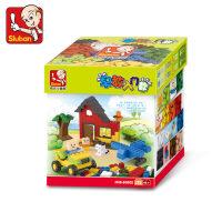 快乐小鲁班拼装DIY积木儿童智力拼插玩具入门早教系列男女孩4岁抖音