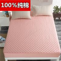 纯棉床笠单件全棉夹棉席梦思保护套加厚防尘罩床垫套1.8m床罩