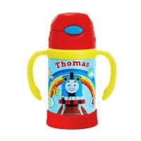 托马斯儿童双柄软吸管保温壶300ML不锈钢便携式水杯男孩儿童宝宝玩具 300ml(彩虹款)FU-13-4209TM