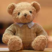 泰迪熊抱抱熊毛�q玩具小熊公仔布娃娃大�毛衣熊抱枕送女生日�Y物