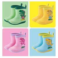 �和�雨鞋男童女童防滑水鞋����雨靴1-5�q8可��胗�狠p便小童水靴