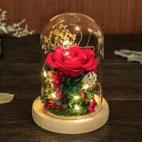 礼盒玻璃罩摆件母节520情人节送女友生日礼物玫瑰花