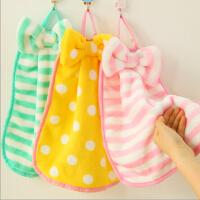 创意时尚家居小方巾可挂式手帕柔珊瑚绒小毛巾擦手巾
