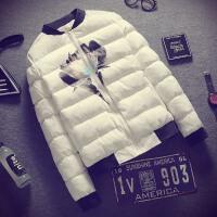 冬季新款男外套青年时尚短款冬装韩版潮男装加厚棉衣冬天衣服
