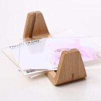 欧式木质相框摆台创意亚克力相框U型摆台创意像框儿童相架时尚装饰相框 U型实木 横式