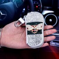 【品牌特惠】车载车用钥匙包镶钻可爱女士宝马奔驰奥迪通用车型汽车钥匙保护套