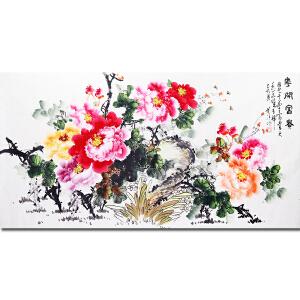 中国著名花鸟画家、江苏墨香书法院创作员陈芬清老师作品――花开富贵