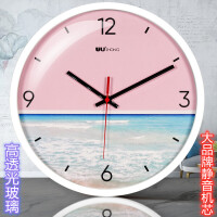 无声挂钟 小 钟表挂钟客厅电子时钟现代简约静音无声个性创意家用办公卧室墙钟B 12英寸