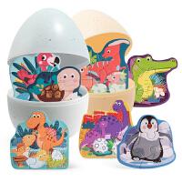 特宝儿 不倒翁拼图幼儿童益智早教野生动物拼版玩具1-2-3岁智力开发120457-120458