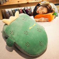 仙人掌午睡枕趴睡枕头可爱儿童午休枕抱枕趴着睡觉神器学生趴趴枕 竹炭款(上新 限时送)