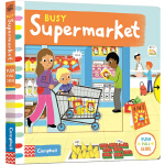 Busy Supermarket 系列 英文原版绘本0 3 6岁 繁忙的超市 儿童操作机关书 学习性的幼儿游戏纸板书