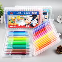 儿童双头可水洗软头水彩画笔套装小学生幼儿园用颜色笔12色24色36色涂鸦水彩勾线笔