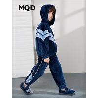 【1件3折:189】MQD男童睡衣19秋冬新款儿童两件套中大童保暖家居服
