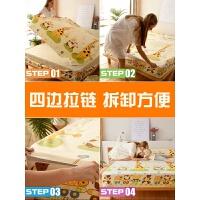 全包拉链式防水床垫罩隔尿床笠单件床罩防滑防尘床套席梦思保护套