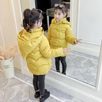 童装女童2018新款棉衣冬装外套中长款儿童加厚棉袄小女孩洋气