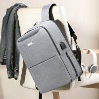 男士双肩包休闲青年旅行简约商务男背包15.6寸电脑包大容量潮