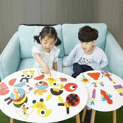 儿童2幼儿园5男女孩宝4早教益智玩具1-3-6周岁 七巧板智力开发拼图