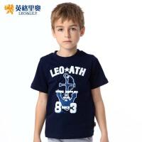 【两件1.3折价:21.7元】英格里奥童装男童夏款新款卡通短袖T恤9321