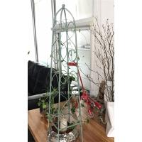 欧式铁艺花架落地式植物爬藤架做旧攀爬架户外庭院阳台铁线莲支架 特