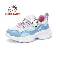【3折价:98.7元】凯蒂猫2020秋季新款老爹鞋女童鞋魔术贴透气女童运动鞋K0533004