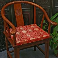 【品质推荐】太师椅靠垫新中式罗汉床茶桌餐椅垫红木椅圈椅实木沙发坐垫太师椅海绵座垫靠垫抱枕可拆可定制